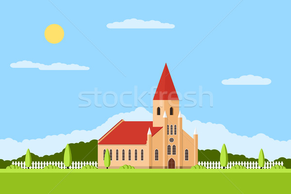 catholic church building Stock photo © shai_halud
