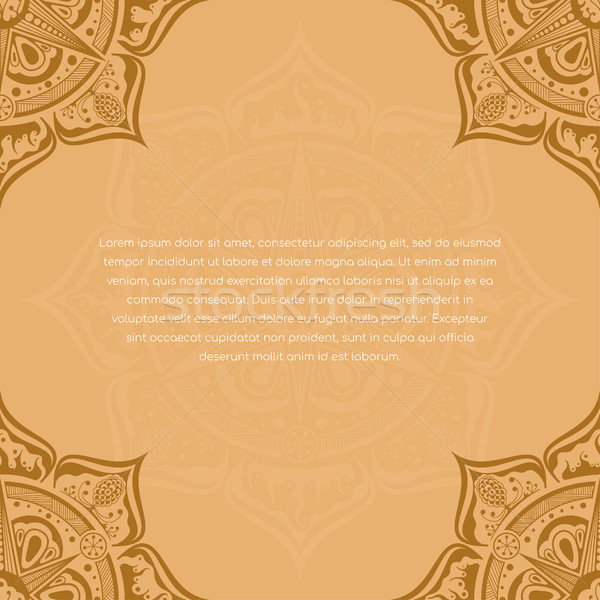 шаблон мандала дизайна брошюра Vintage кадр Сток-фото © shai_halud