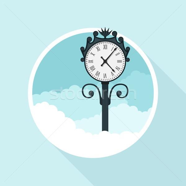 часы фотография улице стиль иллюстрация фон Сток-фото © shai_halud