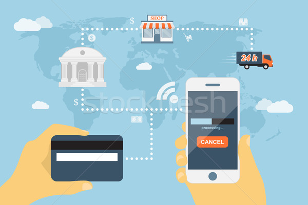 Stock photo: mobile payment