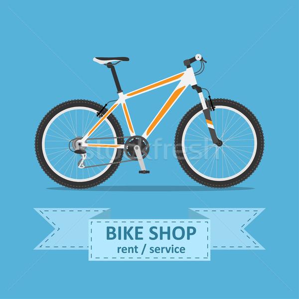 Fiets foto berg fiets stijl illustratie Stockfoto © shai_halud