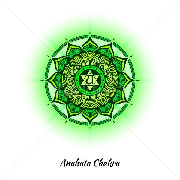 çakra dizayn simge kullanılmış hinduizm budizm Stok fotoğraf © shai_halud