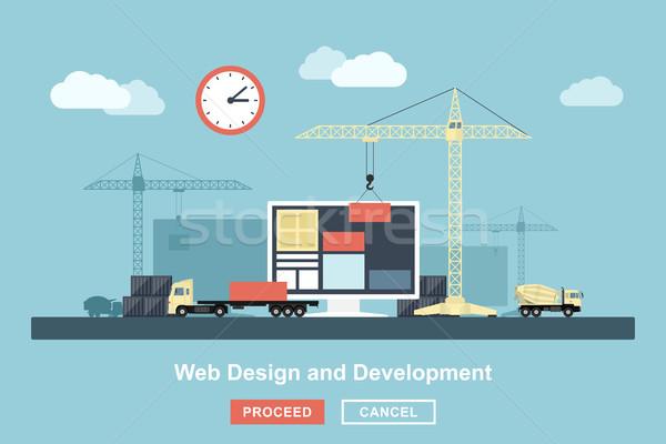 Web tasarım stil çalışma süreç gibi Stok fotoğraf © shai_halud