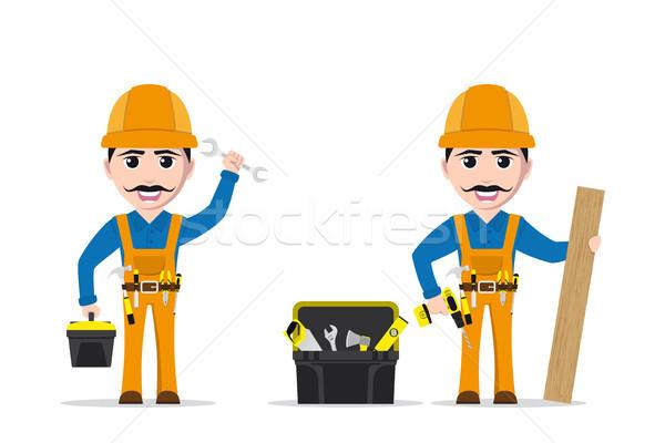 работник человека характер фотография инструменты Инструменты Сток-фото © shai_halud