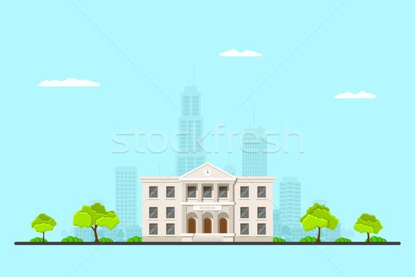 Zdjęcie muzeum budynku duży miasta miejskich Zdjęcia stock © shai_halud