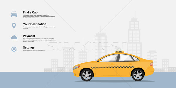 Stock photo: taxi service infographic