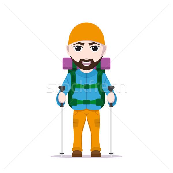 походов туристических человека фотография Cartoon путешественник Сток-фото © shai_halud