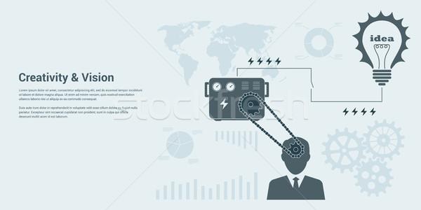 ストックフォト: スタイル · バナー · ビジョン · 人間 · インテリジェンス