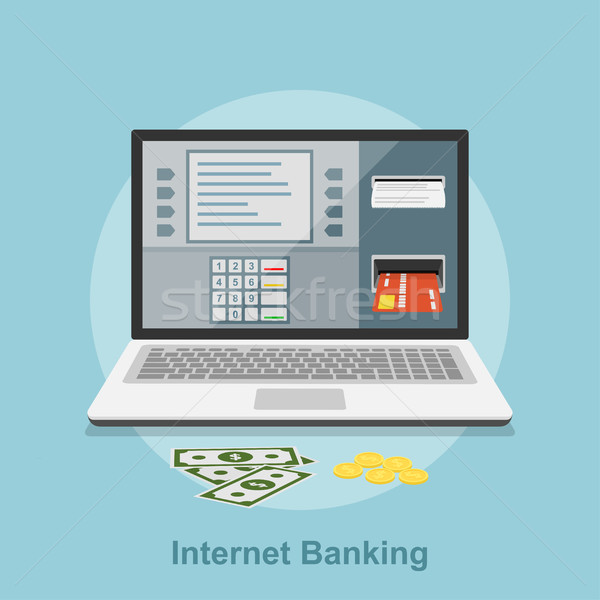 internet banking Stock photo © shai_halud