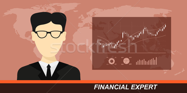 stock market and financial expert Stock photo © shai_halud