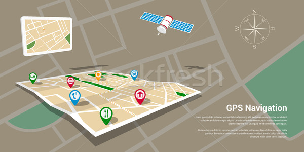 gps navigation map Stock photo © shai_halud