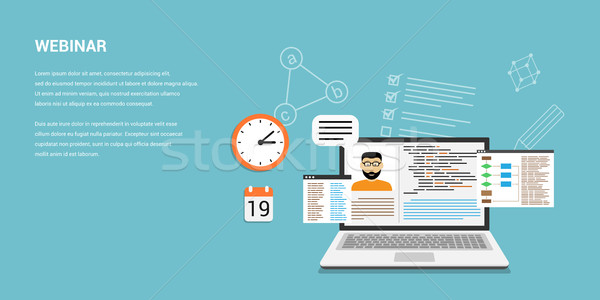 online webinar concept banner Stock photo © shai_halud