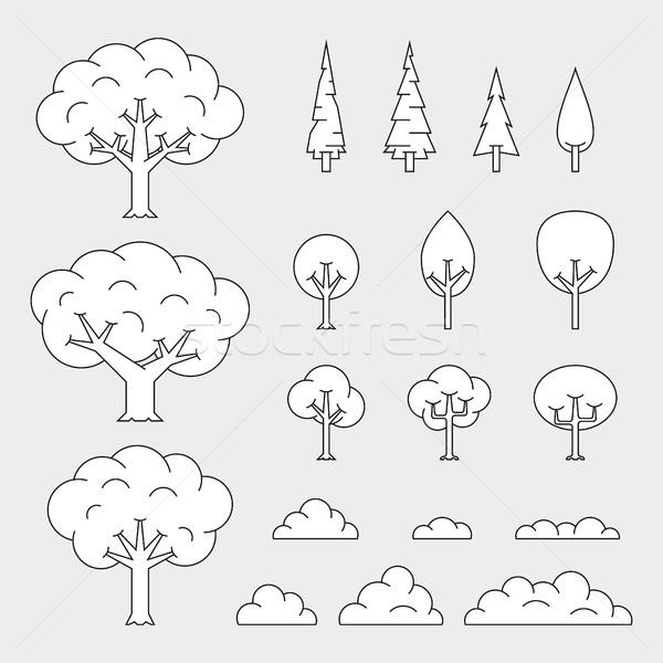 set of tree Stock photo © shai_halud
