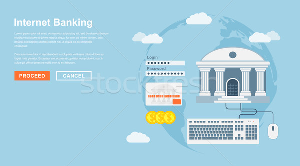 интернет банковской стиль онлайн деньги мыши Сток-фото © shai_halud