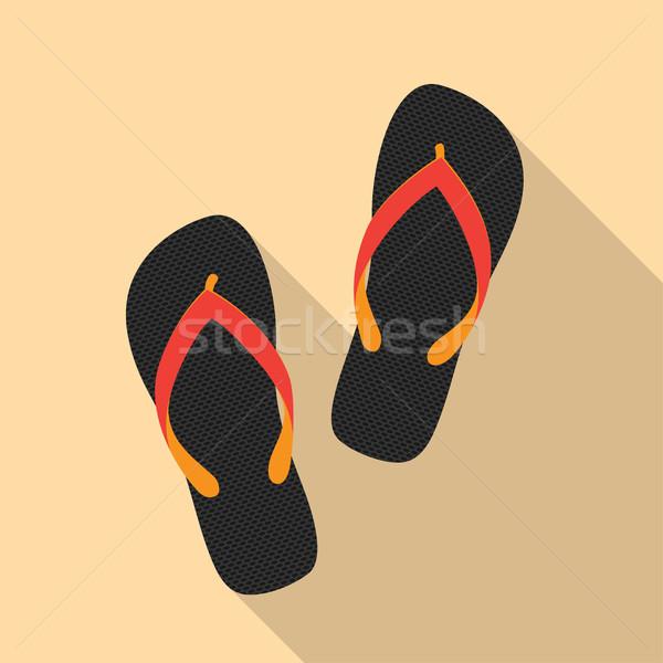Sandales photos paire style illustration plage Photo stock © shai_halud