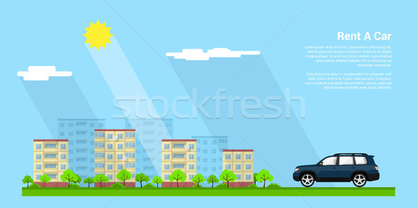 Araba kira resim şehir stil örnek Stok fotoğraf © shai_halud