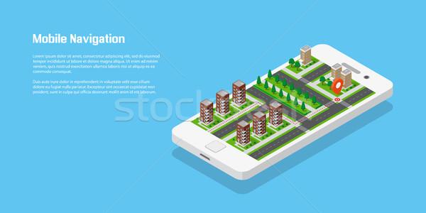 Stock photo: Mobile navigation concept