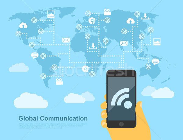 global communication Stock photo © shai_halud