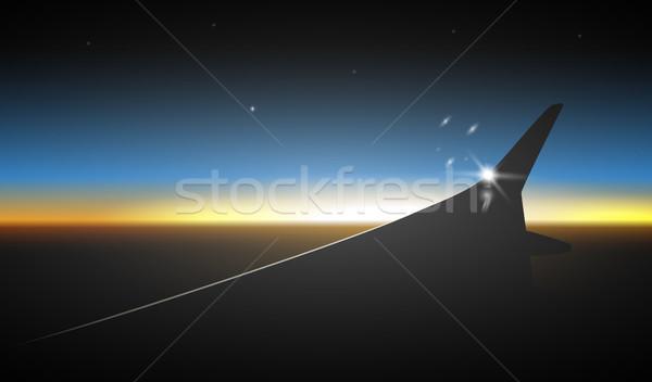 flying plane wing Stock photo © shai_halud