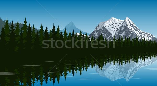 mountain lake landscape Stock photo © shai_halud