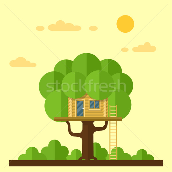 house on tree Stock photo © shai_halud