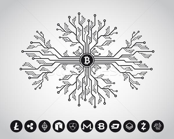 design concept for cryptocurrencies Stock photo © shai_halud