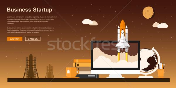 Business avvio foto spazio up pc Foto d'archivio © shai_halud