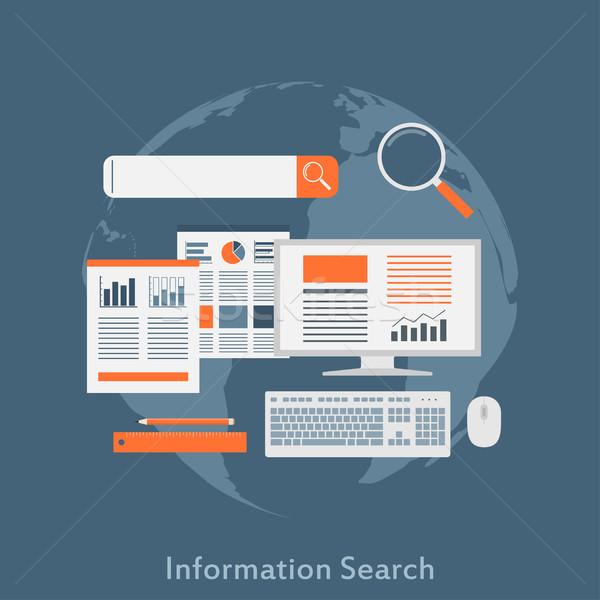 информации поиск стиль иллюстрация seo оптимизация Сток-фото © shai_halud