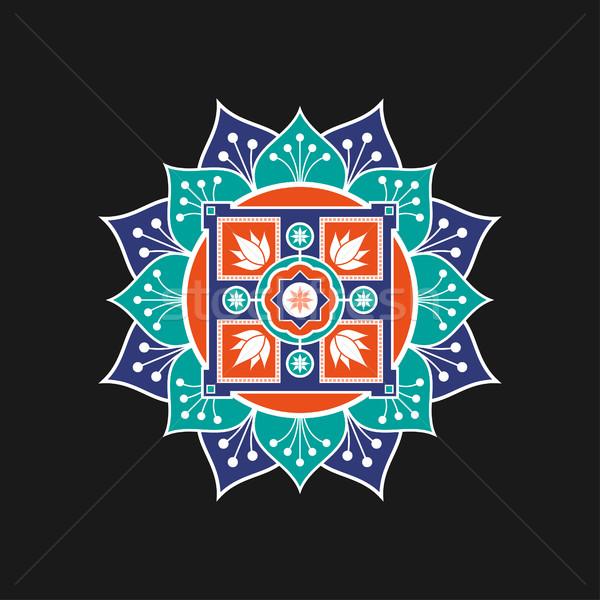 шаблон мандала изолированный белый фон кадр Сток-фото © shai_halud