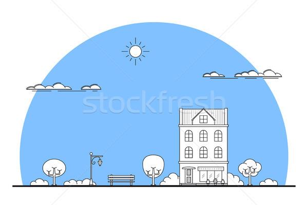 city landscape banner Stock photo © shai_halud