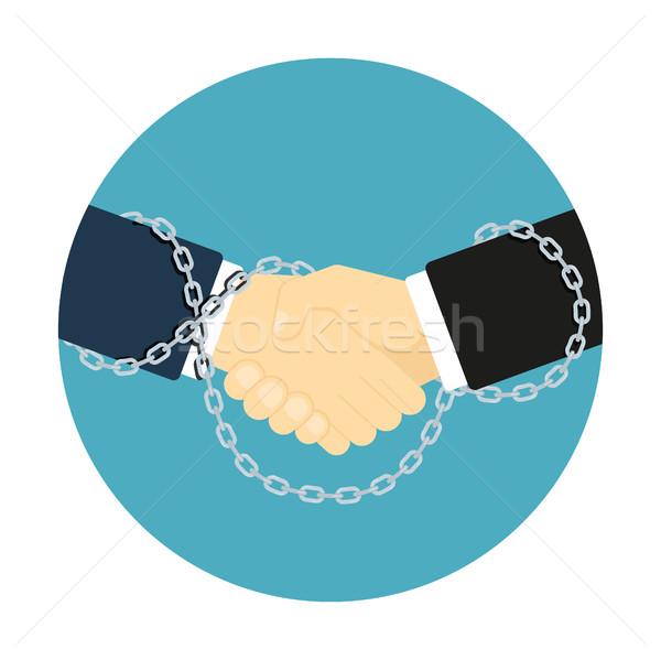 рукопожатие икона стиль фотография два человека Сток-фото © shai_halud