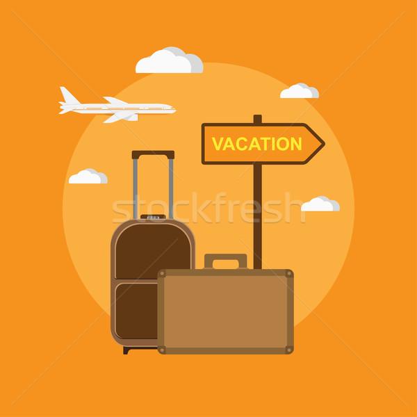 назначение отпуск фотография путешествия мешки указатель Сток-фото © shai_halud
