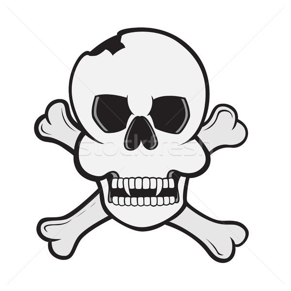 череп фотография знак рок зубов мертвых Сток-фото © shai_halud