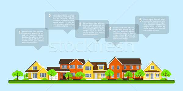 small town infographic Stock photo © shai_halud