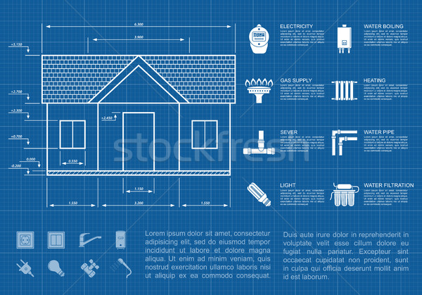 house infographic Stock photo © shai_halud