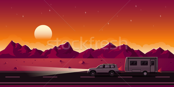 SUV and trailer Stock photo © shai_halud