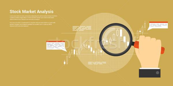 Tőzsde elemzés stílus háló szalag stock Stock fotó © shai_halud