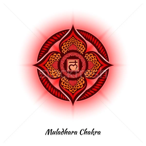 Chakra diseno símbolo utilizado hinduismo budismo Foto stock © shai_halud