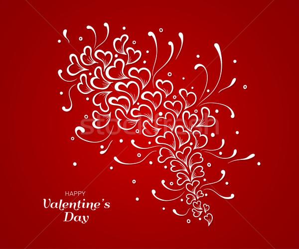 карт сердцах шаблон рисованной Элементы Сток-фото © shai_halud