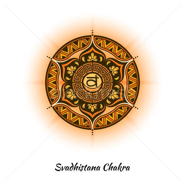 Chakra ontwerp symbool gebruikt hindoeïsme boeddhisme Stockfoto © shai_halud