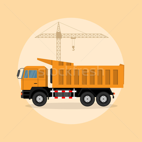 ストックフォト: トラック · 画像 · クレーン · スタイル · 実例