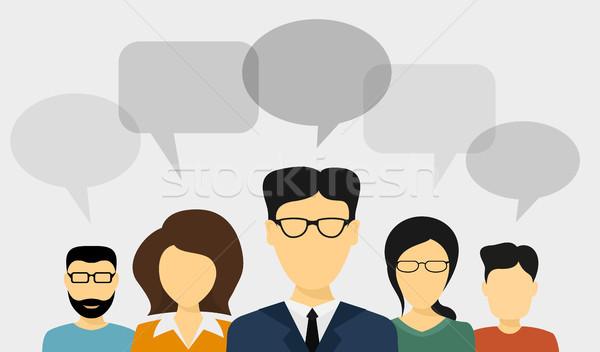 Insanlar konuşmak ayarlamak stil örnek Stok fotoğraf © shai_halud