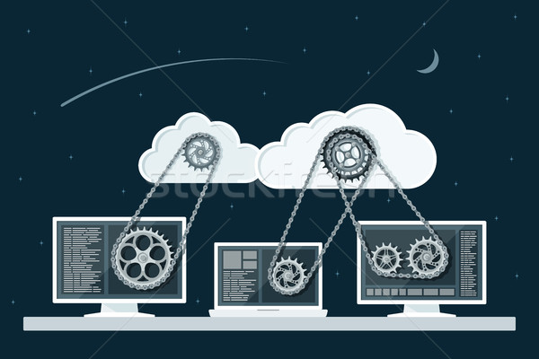 cloud computing Stock photo © shai_halud