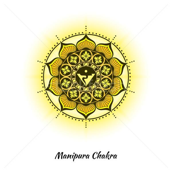 Csakra terv szimbólum használt hinduizmus buddhizmus Stock fotó © shai_halud