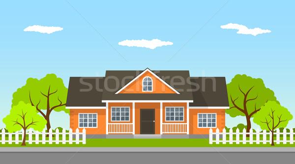 cottage house landscape Stock photo © shai_halud