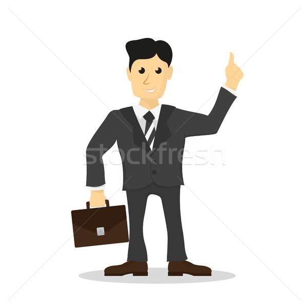 служащий фотография человека костюм короткий случае Сток-фото © shai_halud