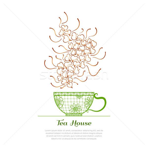 Tè casa tempo Cup aroma floreale Foto d'archivio © shai_halud