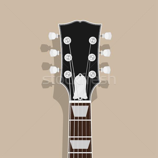 ギター 首 頭 影 スタイル 実例 ストックフォト © shai_halud