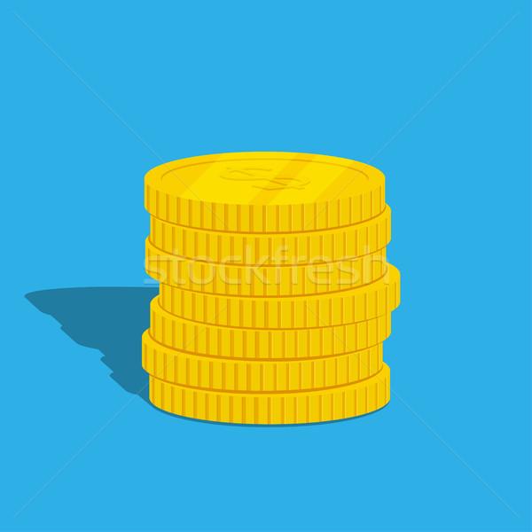 монетами фотография синий стиль иллюстрация Сток-фото © shai_halud