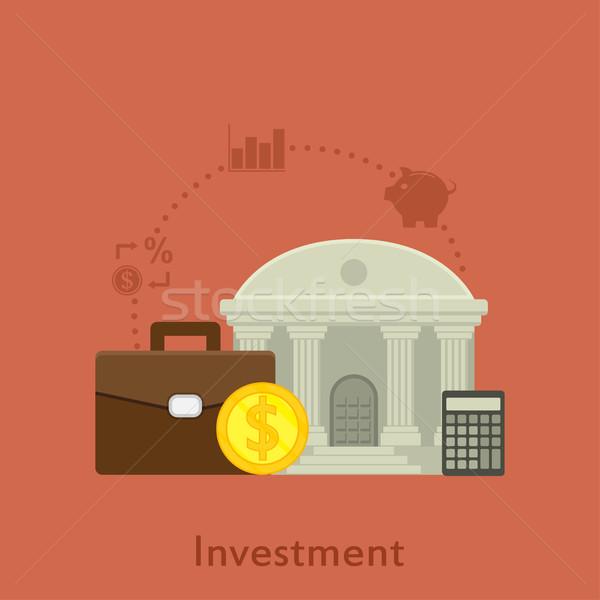 投資 スタイル 実例 アイコン お金 ビジネス ストックフォト © shai_halud